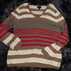 Tommy Hilfiger striped v neck sweater